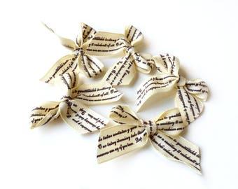 Sati printed Scriptures set of 5 bows