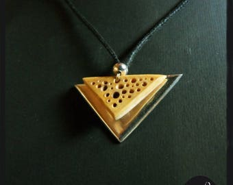 Sterling Silver and lace wood (buis)