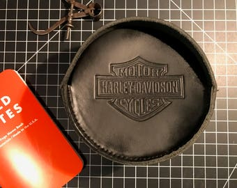 Harley Davidson Leather Duct Tape Roll Bag