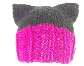 Cat Hat sparkle pink and black