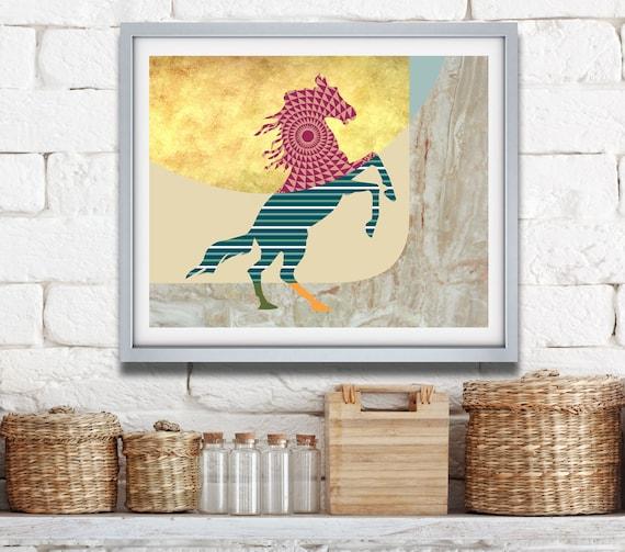 Horse Art Print, Gift for Horse Lover, Horse Painting, Horse Decor, Horse Print, Horse Design, Horse Poster