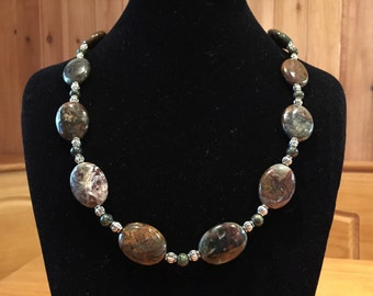 Chinese jasper necklace