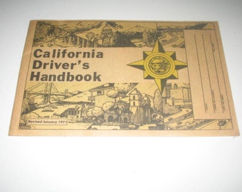 California Drivers Handbook Revised January 1971 DMV