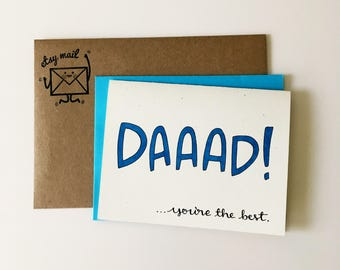 Fathers Day Card / Funny Fathers Day Card / Thanks Dad Card / Thank You Dad