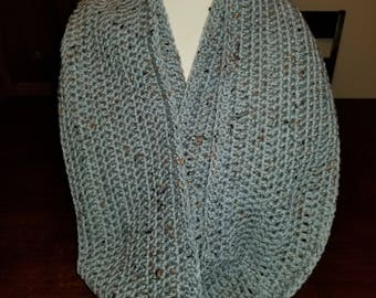 Blue Speckled Infinity Scarf