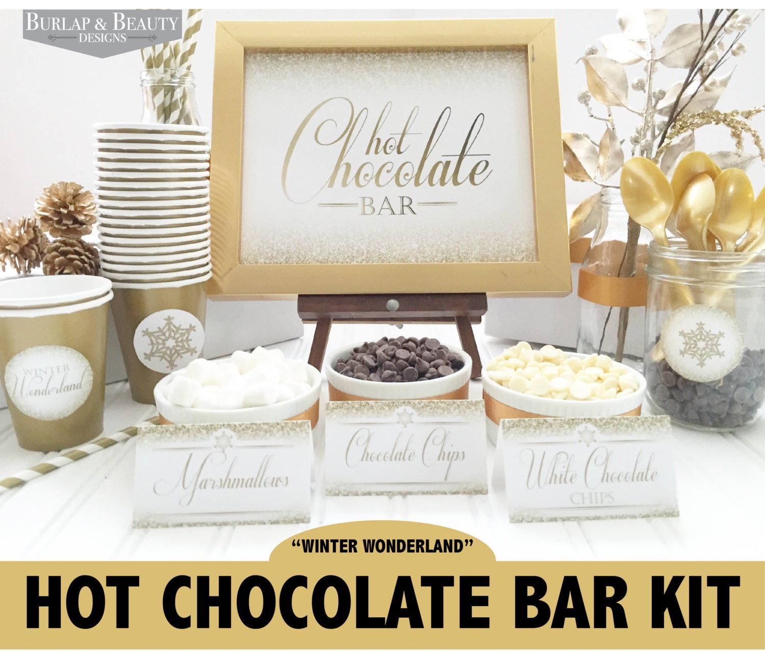 Hot Chocolate Bar Printable Kit INSTANT DOWNLOAD Hot Cocoa