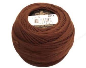 DMC 801 Dark Coffee Brown Perle Cotton Thread Size 5
