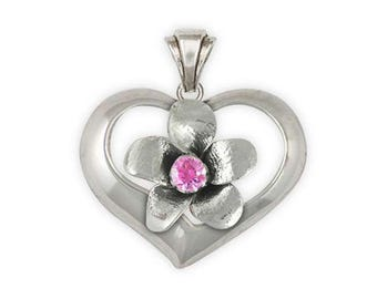 Cherry Blossom Pendant Jewelry Sterling Silver Handmade Flower Pendant CBB1-STP