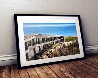 crane beach, boardwalk, ipswich, massachusetts, new england, ocean, sand dunes, trustees of reservations, photography, fine art print
