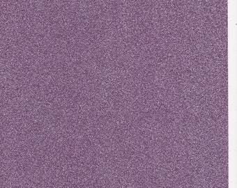 Lilac Lavender Glitter Card A4 soft touch low shed 1 sheet
