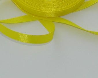 3 m width 9.8 mm yellow satin ribbon