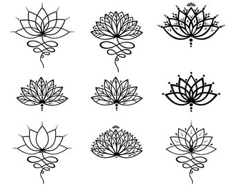 Lotus flower, Lotus, Outline, SVG,Graphics,Illustration,Vector,Logo,Digital,Clipart