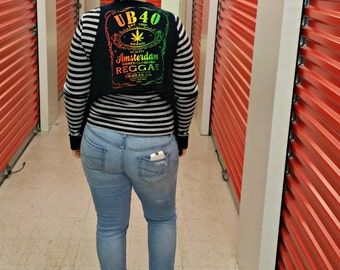 REGGAE Music Vest . Unisex. Music . Recycled Clothing