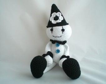 Crochet Clown / Clown Plush Toy / Amigurumi Clown Doll / Plush Clown / Amigurumi Plush Soft Toy / Crochet Plush Toy/ Clown Toy / Plush Toy.
