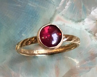 Garnet ring, January birthstone ring, Gold ring, Gold Filled ring, stacking ring, custom ring, dainty ring, stone ring - Truly happy R2502