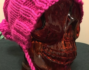 Neon pink slouchy hat