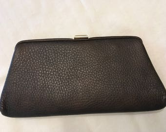 St. Thomas Brown Leather Clutch