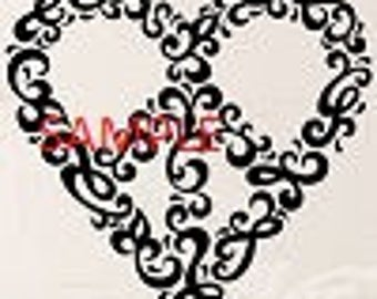 Peace Heart Cross Stitch Chart