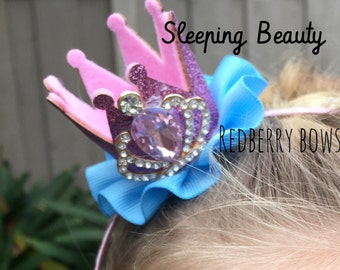 """SLEEPING BEAUTY CROWN with Rhinestone Crown Embellishment-approximately 2""""x2"""""""