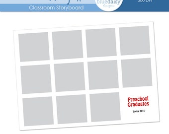 5x7 Classroom Storyboard  (Class Size 11) - Photographer Resources