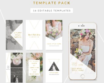 instagram story templates - eden collection - easy to edit templates for instagram stories