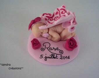 Baby girl on stand, ideal birthday gift, birthday cake decoration