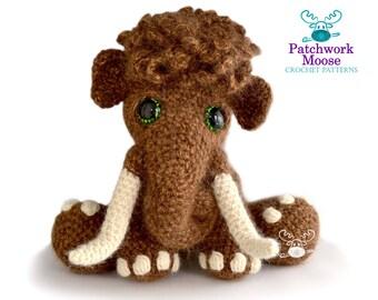 Woolly Mammoth Crochet Pattern PDF Instant Download - Mortimer