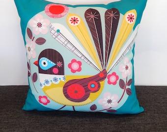 Little Fantail, cushion cover