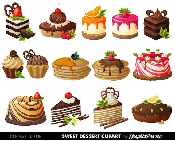 Cake Digital Clipart Pastry Clip art Sweet Treat Cake clip art