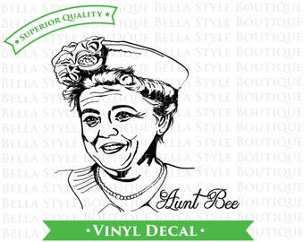 Aunt Bee Andy Griffith Show VINYL DECAL