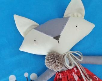 Gooroomi Foxy Fox Girl Heirloom Cloth Doll - Item FOX0015