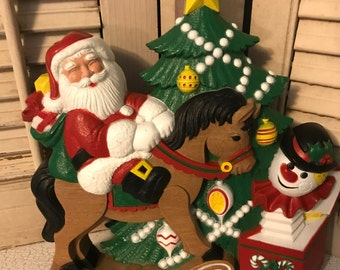 Vintage 1990 Burwood Products 3-D Christmas Wall Hanging