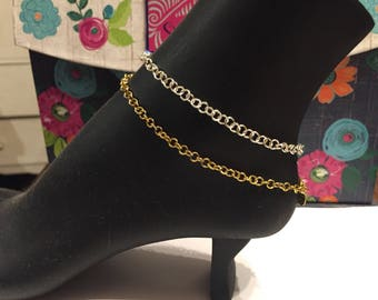 Sale ! Sale double sale!!!Anklet gold or silver