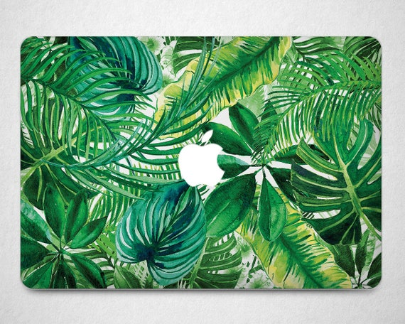 monstera leaf macbook air 13 case tropical plant print macbook