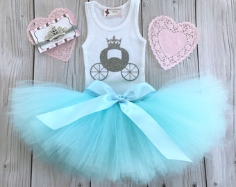 Cinderella Baby Girl 1st Birthday Outfit | Baby Tutu | Tutu Dress | Birthday Dress | Baby Girls Cake Smash Outfits | Blue Birthday Tutu