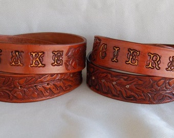Leather Belt, Belt, Mens Leather Belt, Women Leather Belt, Western Belt, Mens Belt, Womens Belt, Leaf Belt, Personalized Belt, Brown Belt