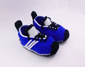 Crochet baby shoes Baby sneakers Baby booties Baby booty, Newborn shoes, Unique baby gift, 3-6 months, Baby gift set, Baby shoe,