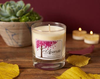 Bergamot, Geranium & Cedarwood Essential oils in a candle. Romantic , Relax in the bath - Bedroom - Homedecor - Spa - Scented soy candle