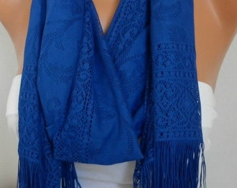 Royal Blue Tulle Scarf,Wedding Scarf,Hanukkah Gift, Cowl Bridesmaid Bridal Accessories Gift Ideas for Her Women Fashion Accessories