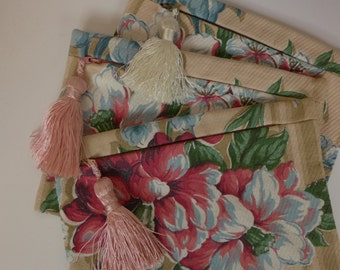 Vintage Fabric Cosmetic Bag
