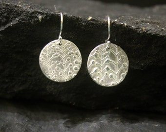 Mothers Day Gift Small Silver Earrings Sterling Silver Earrings Handmade Flower Earrings Dangle Silver Earrings Silver Lily of Valley