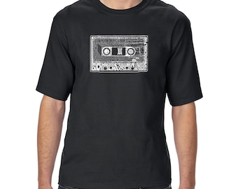Men's Tall and Long Word Art T-shirt - The 80's