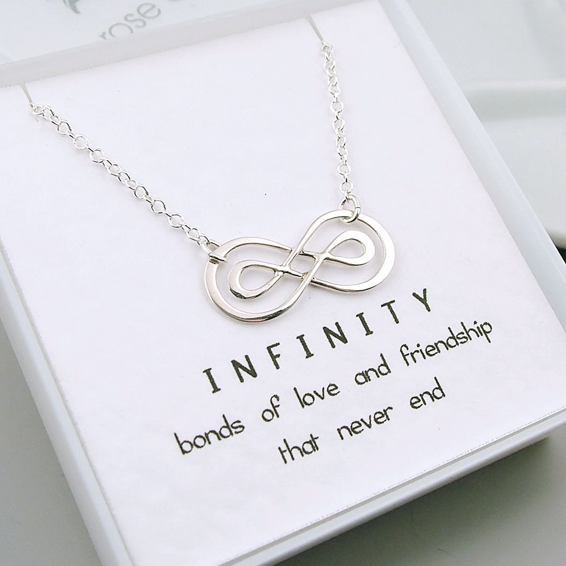Double infinity necklace sterling silver infinity friendship description sterling silver double infinity necklace biocorpaavc Image collections
