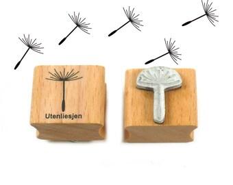 Stamp dandelion, rubber stamp 15 x 20 mm