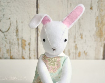 Bunny Doll Pattern Rabbit In A Dress Printable PDF Sewing