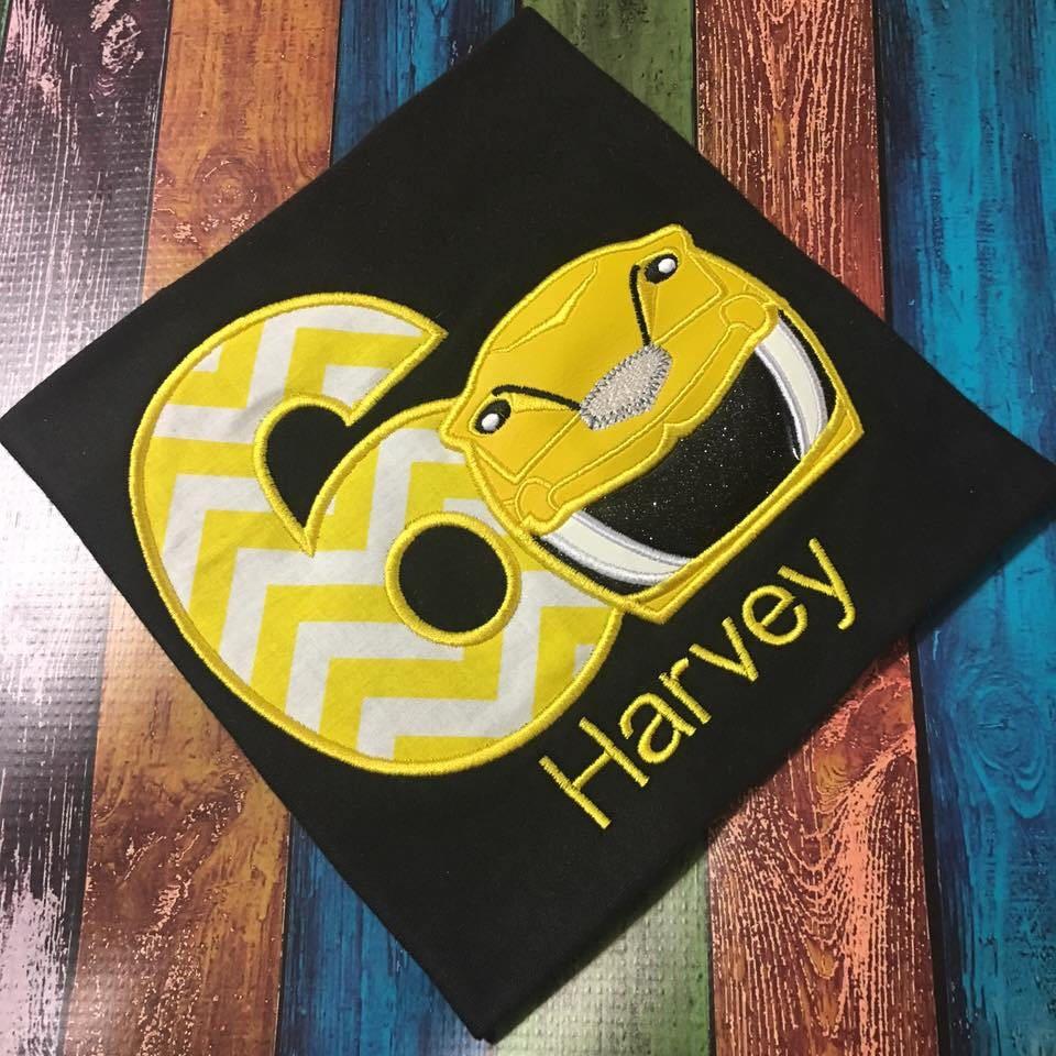 Yellow Helmet Shirt Yellow Ranger Shirt Yellow Power Ranger