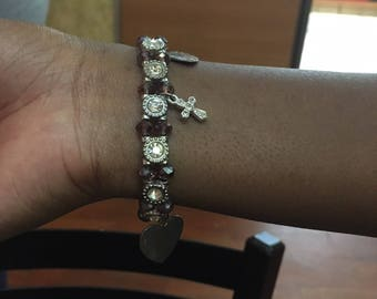 Heart and Cross Bracelet