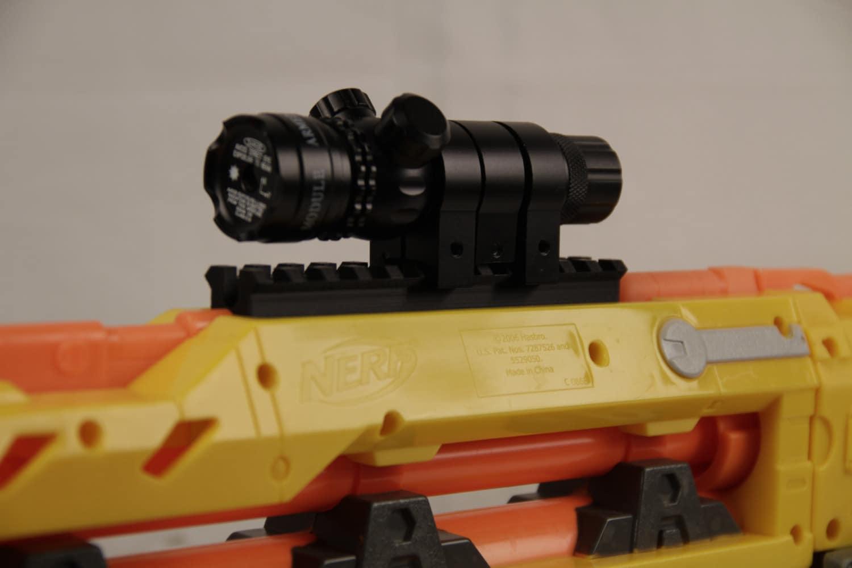 3D Printed Picatinny Rail for Nerf Longshot CS-6 Front Gun
