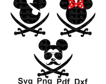 Mickey Pirate Etsy