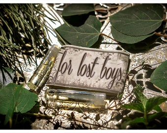 for lost boys - natural botanical perfume mini sampler - twin vial sample pack - primary notes: chocolate-spiced colombian coffee